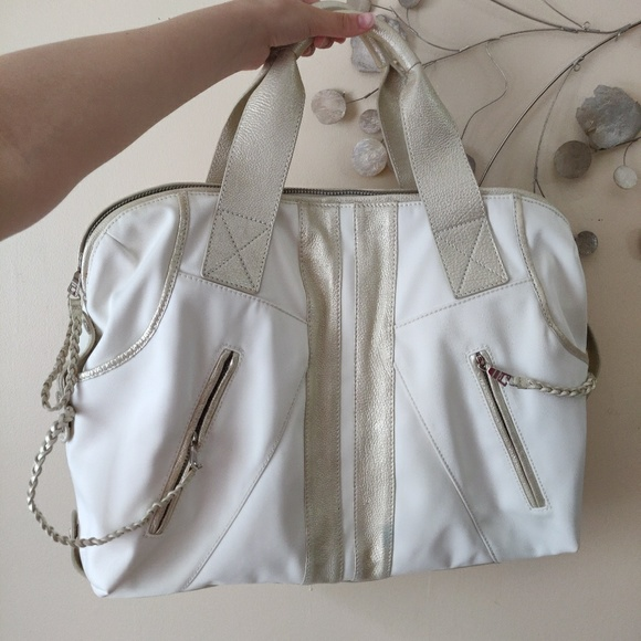 Andrew Marc Handbags - Andrew Marc Ivory Leather Hobo Bag
